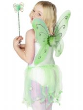 Butterfly Wings And Wand Set In Green